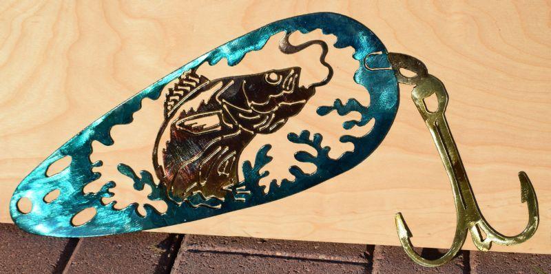 Metal fishing art